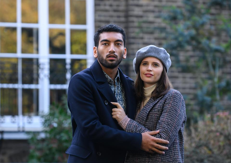 Jones with Nabhaan Rizwan in The Last Letter From Your Lover (StudioCanal/PA)