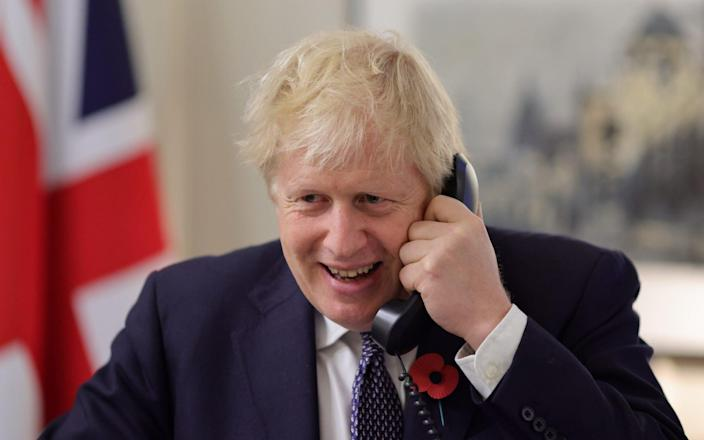 Boris Johnson spoke to Joe Biden on the phone this week and the pair share a number of foreign policy objectives - ANDREW PARSONS