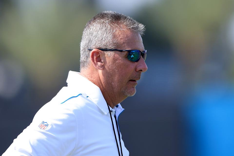 JACKSONVILLE, FLORIDA - JUNE 15: Head coach of the Jacksonville Jaguars Urban Meyer watches the action during Jacksonville Jaguars Mandatory Minicamp at TIAA Bank Field on June 15, 2021 in Jacksonville, Florida. (Photo by Sam Greenwood/Getty Images)