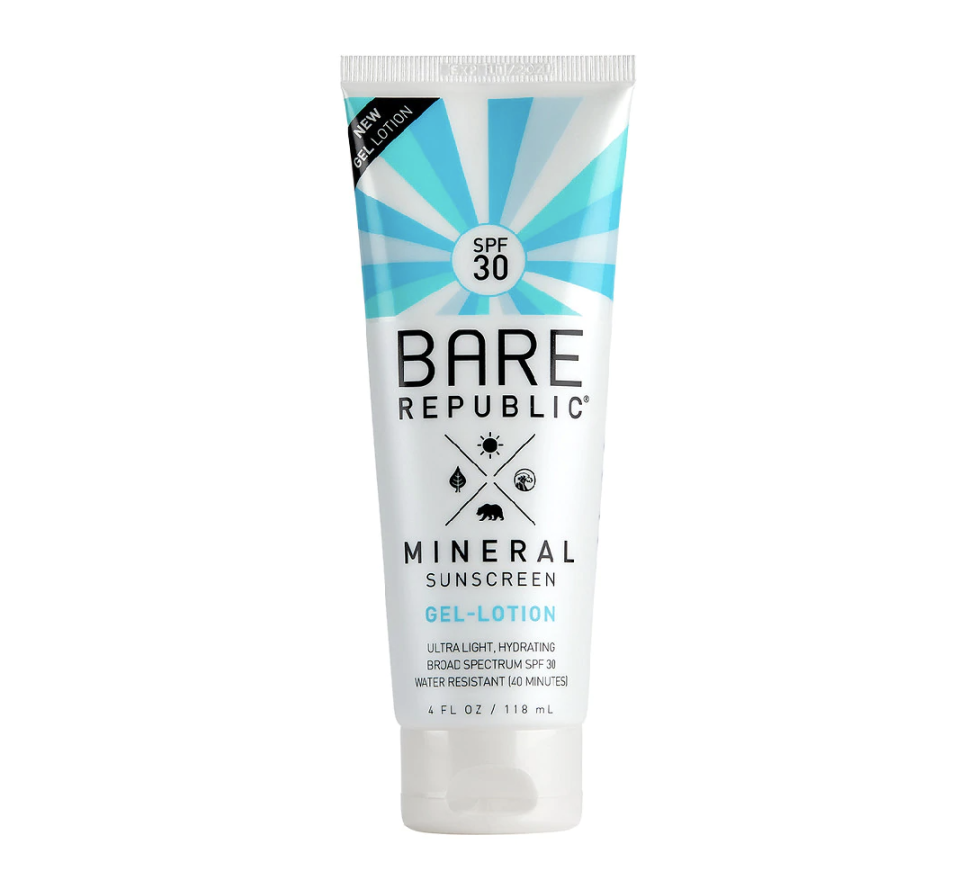 """<p><strong>bare republic</strong></p><p>walgreens</p><p><strong>$16.99</strong></p><p><a href=""""https://go.redirectingat.com?id=74968X1596630&url=https%3A%2F%2Fwww.walgreens.com%2Fstore%2Fc%2Fbare-republic-mineral-sunscreen-gel-lotion-spf-30%2FID%3D300402968-product%3Fext%3DgooKBM_PLA%2B-%2BBeauty%2B%25282019%2BUpdate%2529Beauty_%26gclid%3DCjwKCAiAmrOBBhA0EiwArn3mfBZaKeePcf7g2Ont2mhdP6oIcbqb9Va7x8IUtIvjD_mTECgufNf_MxoCGrkQAvD_BwE%26gclsrc%3Daw.ds&sref=https%3A%2F%2Fwww.goodhousekeeping.com%2Fbeauty%2Fanti-aging%2Fg1288%2Fbest-sunscreens%2F"""" rel=""""nofollow noopener"""" target=""""_blank"""" data-ylk=""""slk:walgreens.com"""" class=""""link rapid-noclick-resp"""">walgreens.com</a></p><p>Several testers found this sunscreen <strong>left a matte finish or helped control their oily skin</strong> throughout the day, earning it the highest score in this category. Testers also gave it top marks for not leaving shine after use and staying put even during workouts. With that, it's important to note that some testers found it chalky and not as moisturizing as desired, so you may need to layer it with your favorite moisturizer. </p>"""