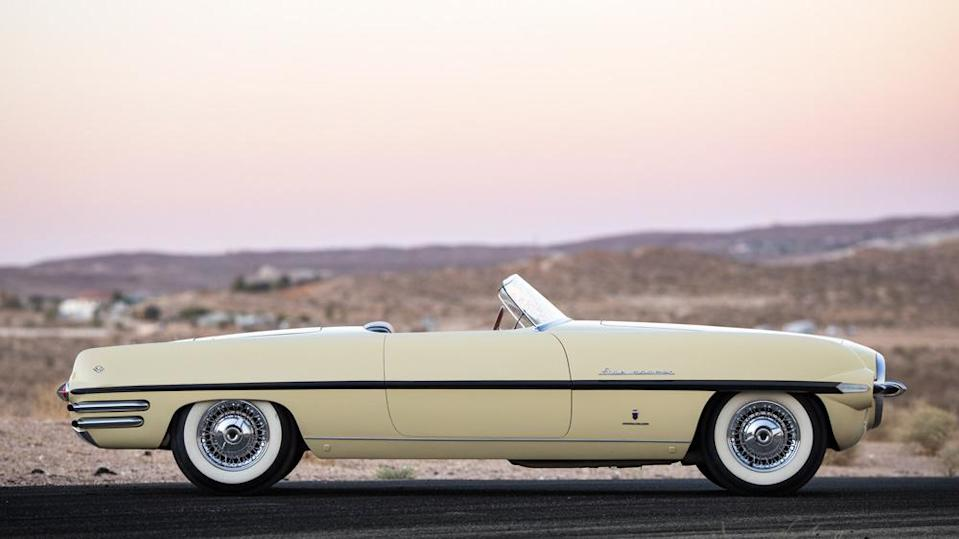 The Firearrow II has a 119-inch wheelbase, 17 inches longer than the Corvette and Thunderbird of the era. - Credit: Photo by Patrick Ernzen, courtesy of RM Sotheby's.