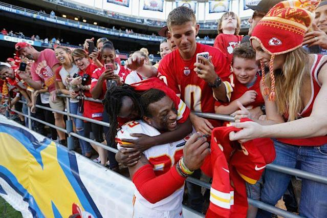 Eric Berry leads a Chiefs defense that's been fun for fantasy purposes. (Getty Images)