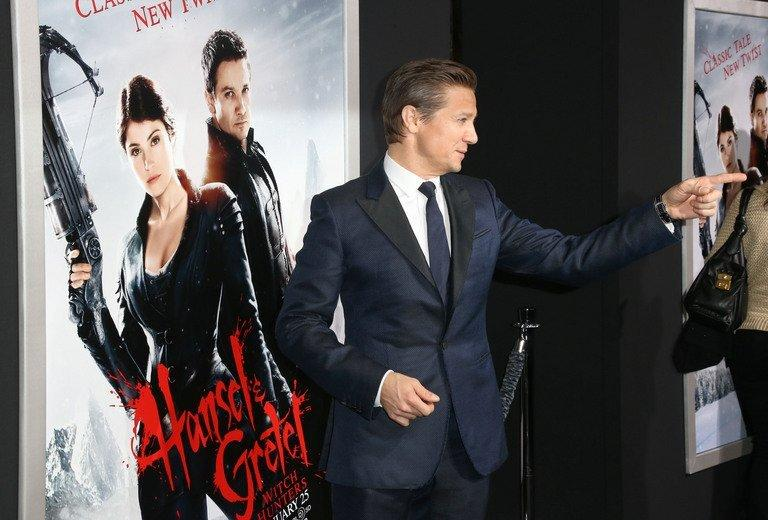"Actor Jeremy Renner attends the premiere of ""Hansel And Gretel Witch Hunters"" on January 24, 2013 in Hollywood"