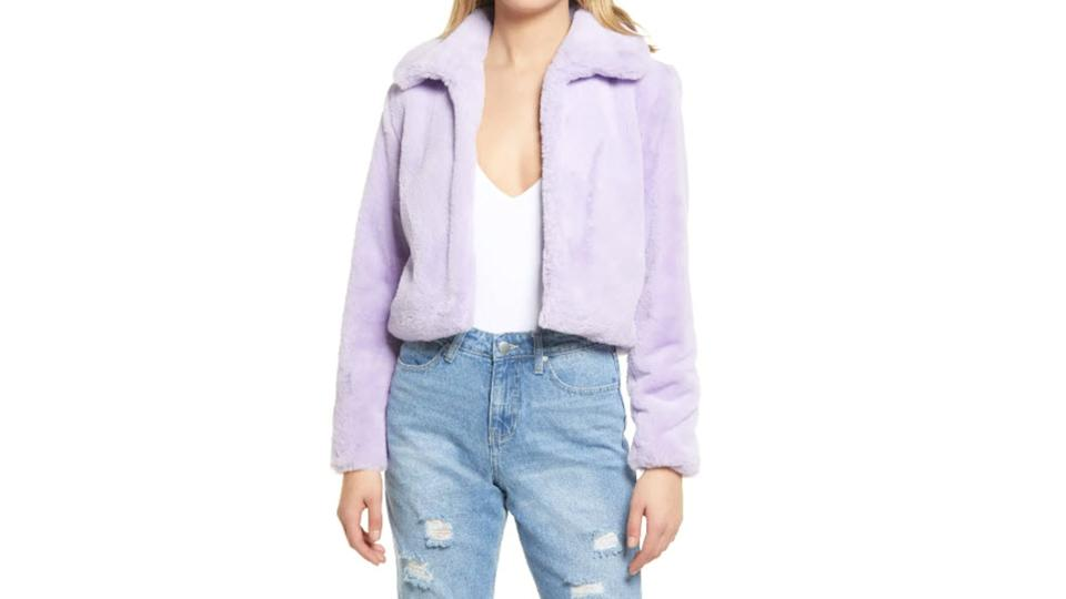 BLANKNYC Faux Fur Crop Jacket - Nordstrom. $44 (originally $98)