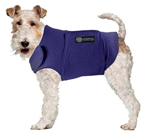American Kennel Club Anti Anxiety and Stress Relief Calming Coat for Dogs, Essential for Thunderstorm season and 4th of July Fireworks- Blue, Medium (Amazon / Amazon)