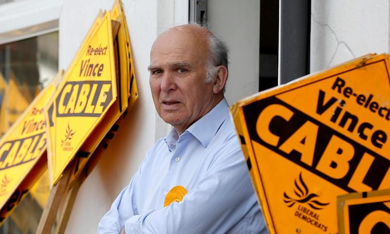 Vince Cable during the 2015 election campaign