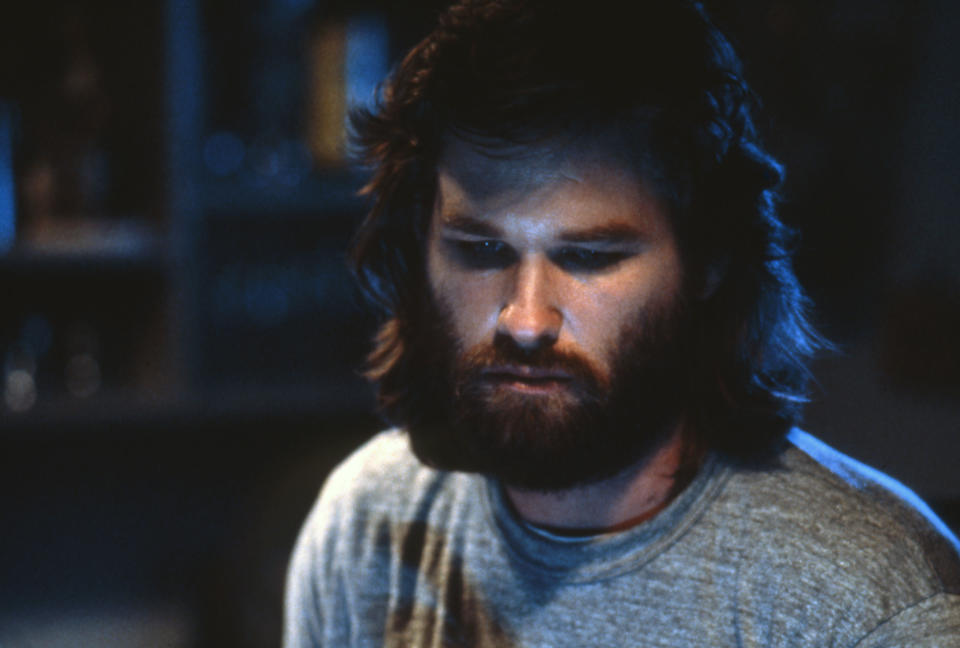 """Kurt Russell on the set of """"The Thing"""". (Photo by Sunset Boulevard/Corbis via Getty Images)"""