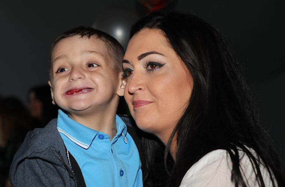 <p>Bradley Lowery celebrates his sixth birthday with his mother Gemma</p> (PA Archive)