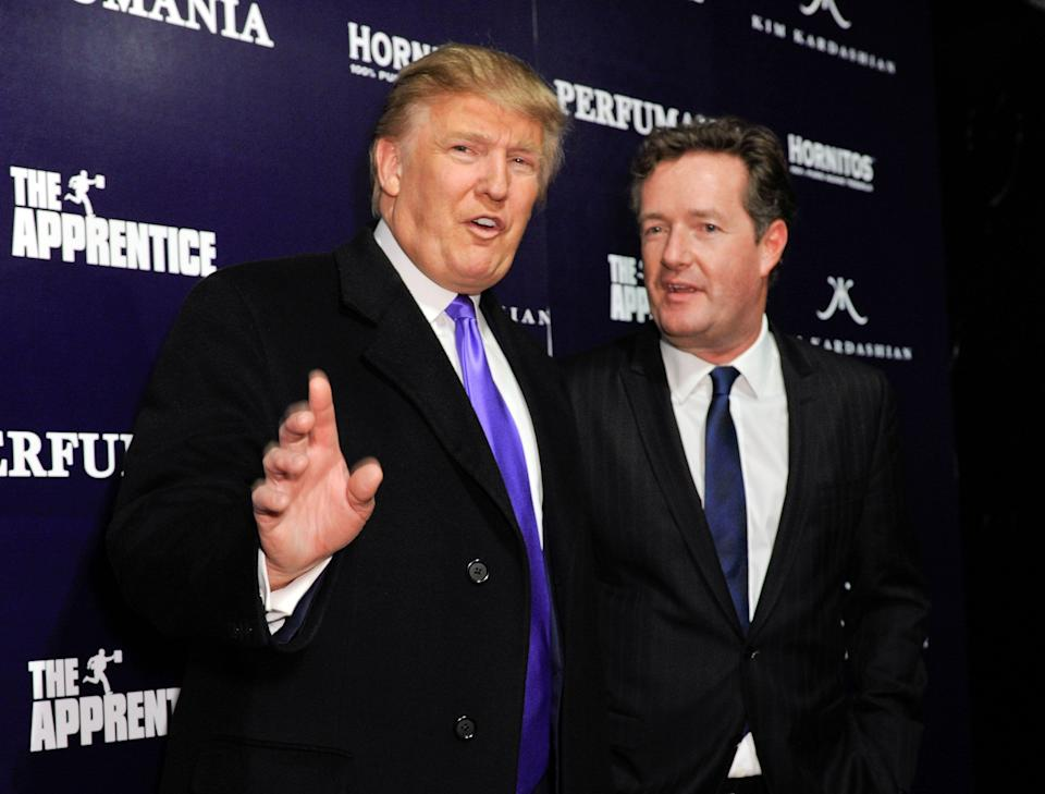 Donald Trump and Piers Morgan pictured together in 2010 (Photo: D Dipasupil via Getty Images)