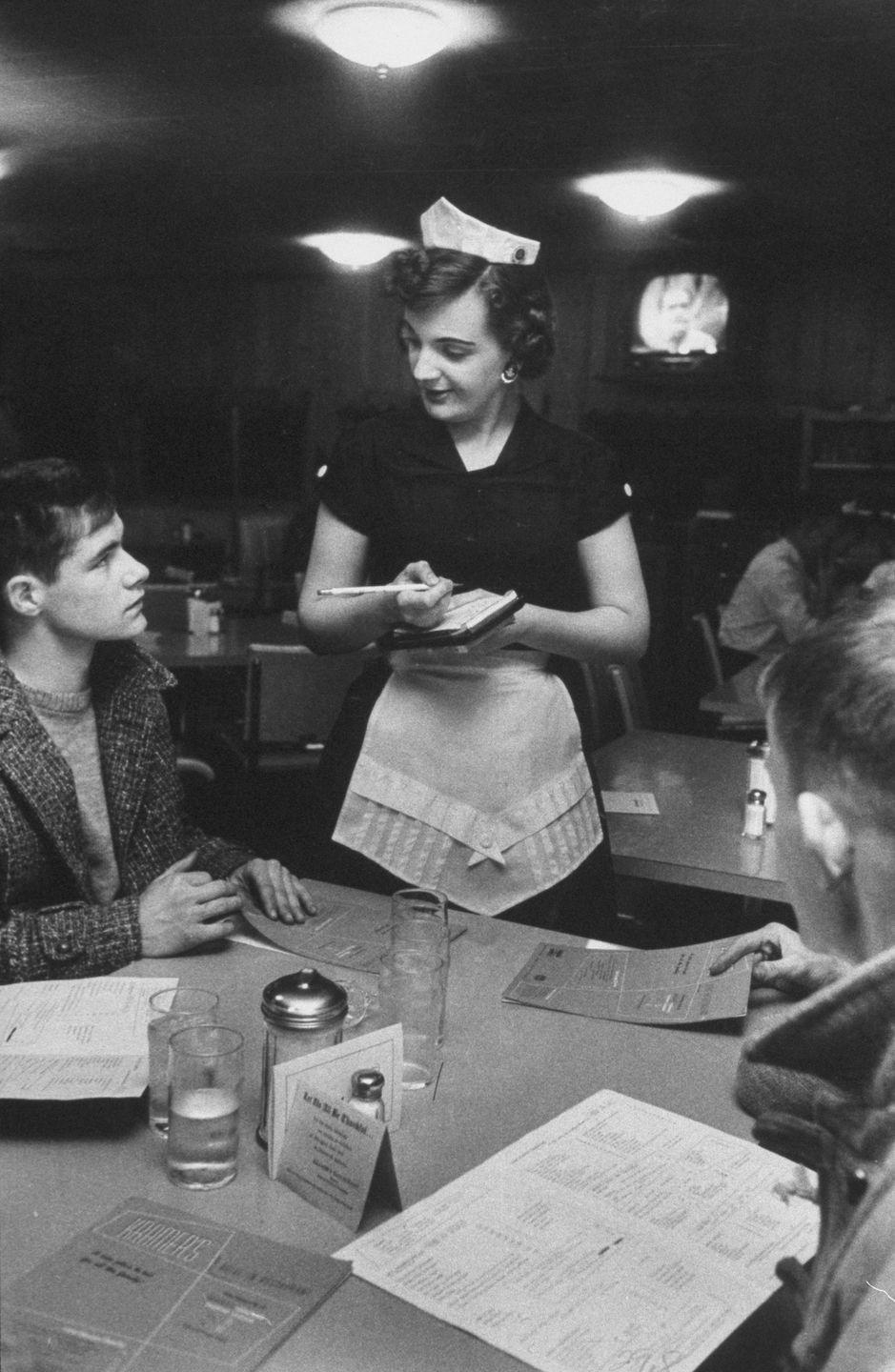 <p>In the '60s, Congress voted that the minimum wage could be lower for staffers at restaurants if a portion of their salary came from tips. At the time, minimum wage was $1.00, which is equivalent to $8.55 in 2019. </p>