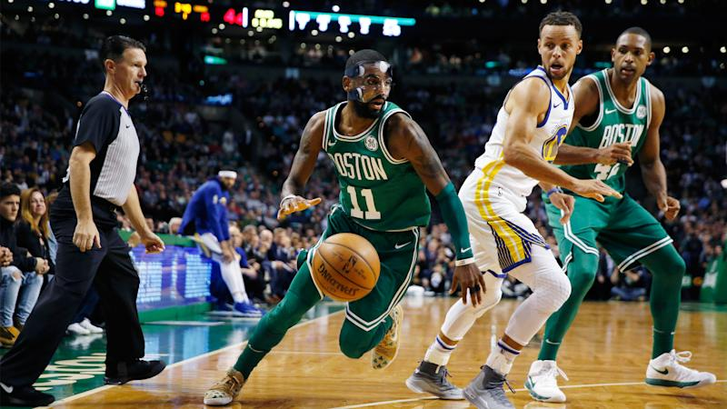 Warriors win 10th straight, beat Celtics 115-111