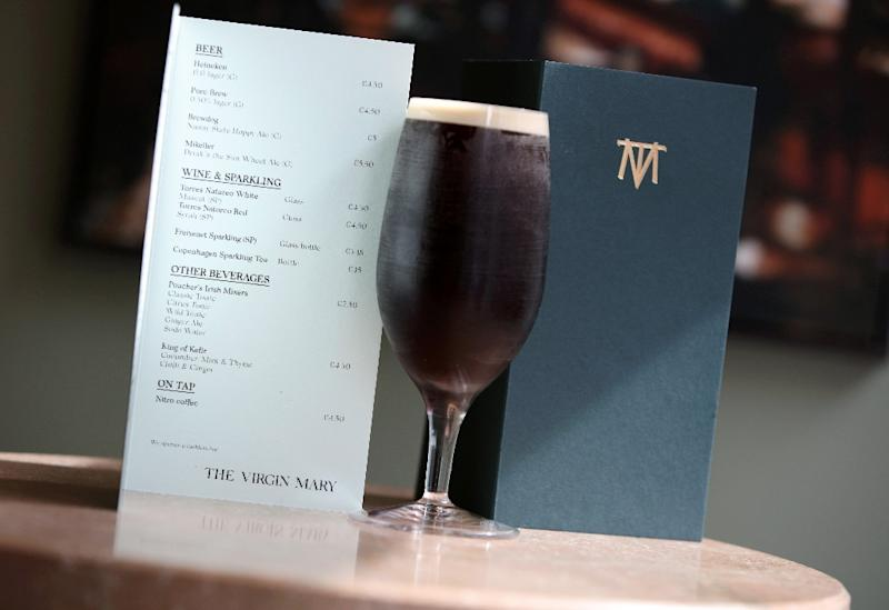 The Virgin Mary has opened in Dublin, offering only non-alcoholic beverages as Ireland's first 'dry pub' (AFP Photo/PAUL FAITH)
