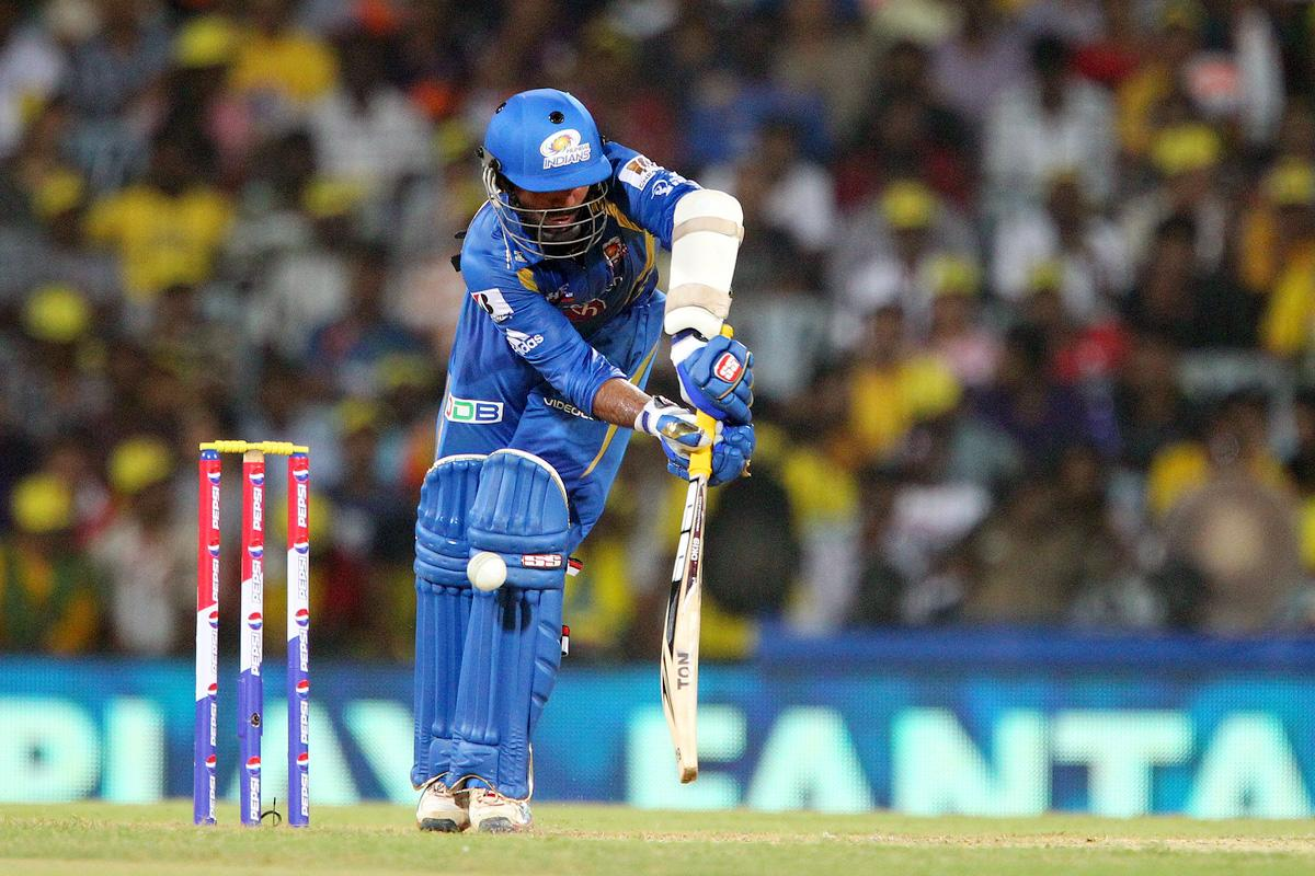 Dinesh Karthik is caught LBW by Dwayne Bravo during match 5 of of the Pepsi Indian Premier League between The Chennai Superkings and the Mumbai Indians held at the MA Chidambaram Stadiumin Chennai on the 6th April 2013..Photo by Ron Gaunt-IPL-SPORTZPICS ..Use of this image is subject to the terms and conditions as outlined by the BCCI. These terms can be found by following this link:..https://ec.yimg.com/ec?url=http%3a%2f%2fwww.sportzpics.co.za%2fimage%2fI0000SoRagM2cIEc&t=1506313392&sig=u5D0Av6K6ya6N7QMhEanHQ--~D