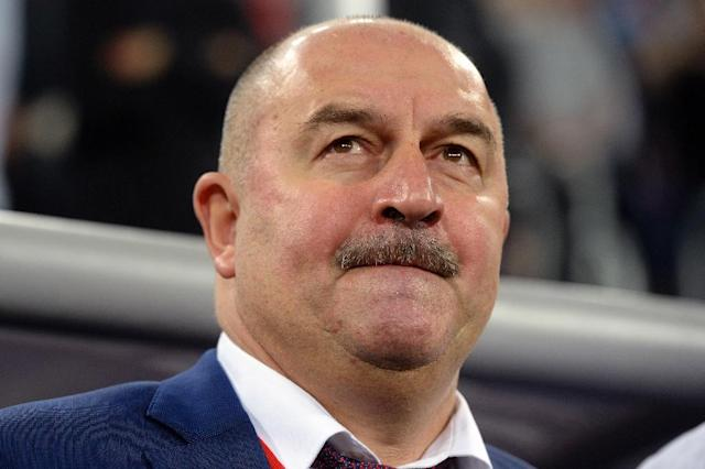 Russia coach Stanislav Cherchesov is contending with a rash of injuries as he tries to appear the host nation's team for the World Cup (AFP Photo/Olga MALTSEVA )