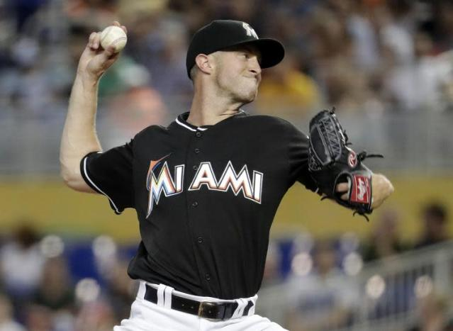 From MillerCoors employee to MLB pitcher, Marlins right-hander Trevor Richards made an improbable return to Milwaukee Friday night. (AP)