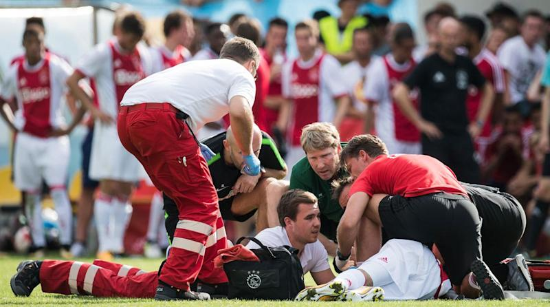 Image result for Ajax's Abdelhak Nouri recovers from brain damage after 1 year in coma