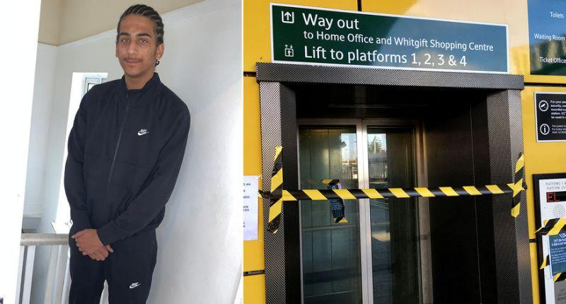 Louis Johnson, left, was stabbed at Croydon East station. (PA/SWNS)