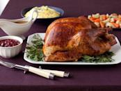 """<p>If you've never made a Thanksgiving turkey before, this is your year and this is your recipe. You simply season it with salt and pepper, fill it with any aromatics of your choice, brush it with a little butter and then roast for a couple of hours. You can do it! <a href=""""http://www.foodnetwork.com/recipes/food-network-kitchens/worlds-simplest-thanksgiving-turkey-recipe2.html?oc=PTNR-YahooFood-thanksgiving_on_yahoo"""" rel=""""nofollow noopener"""" target=""""_blank"""" data-ylk=""""slk:Get the recipe for World's Simplest Thanksgiving Turkey recipe over at Food Network.com."""" class=""""link rapid-noclick-resp""""><b>Get the recipe for World's Simplest Thanksgiving Turkey recipe over at Food Network.com</b>. </a><i>Photo: Anita Calero/Food Network Magazine</i><br></p>"""