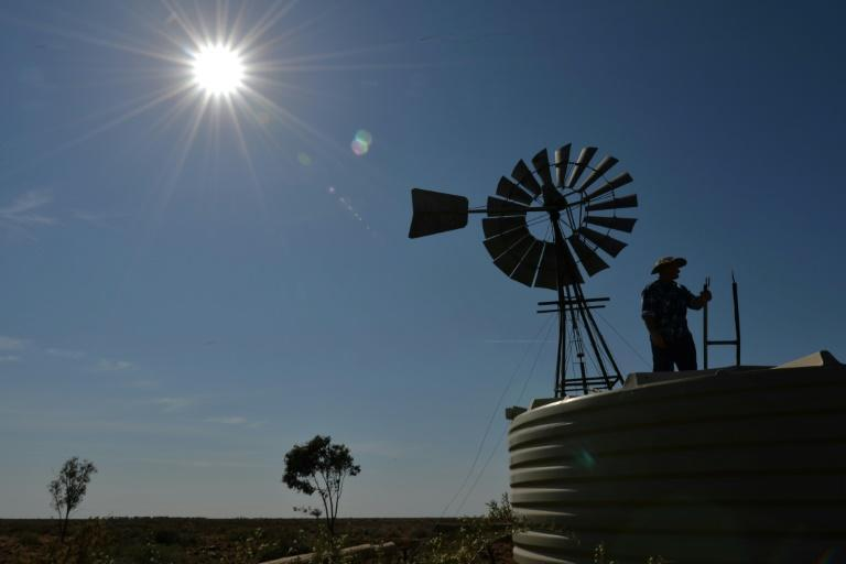 Swathes of Australian farmland have suffered three or more years of drought (AFP Photo/Peter PARKS)