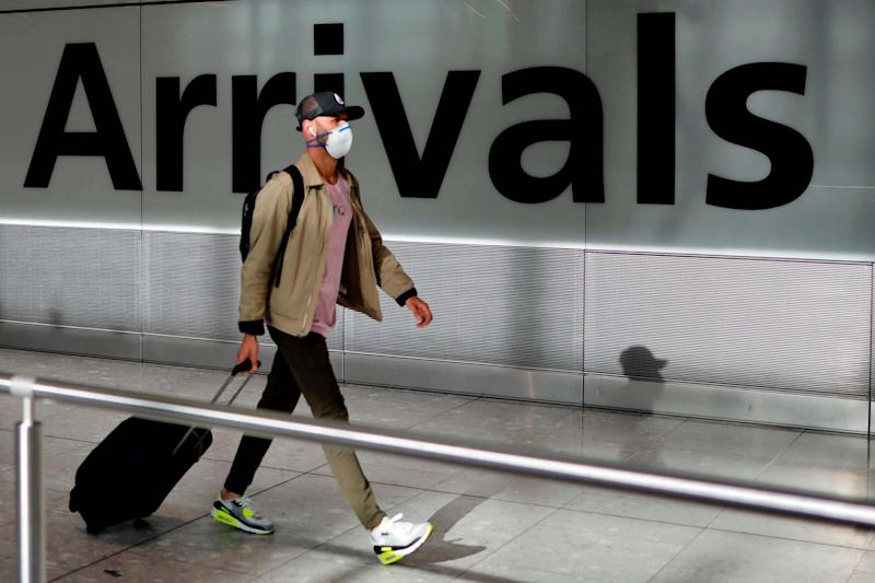 The Home Secretary is due to set out the new rules for travellers arriving in the UK on Wednesday: AFP via Getty Images