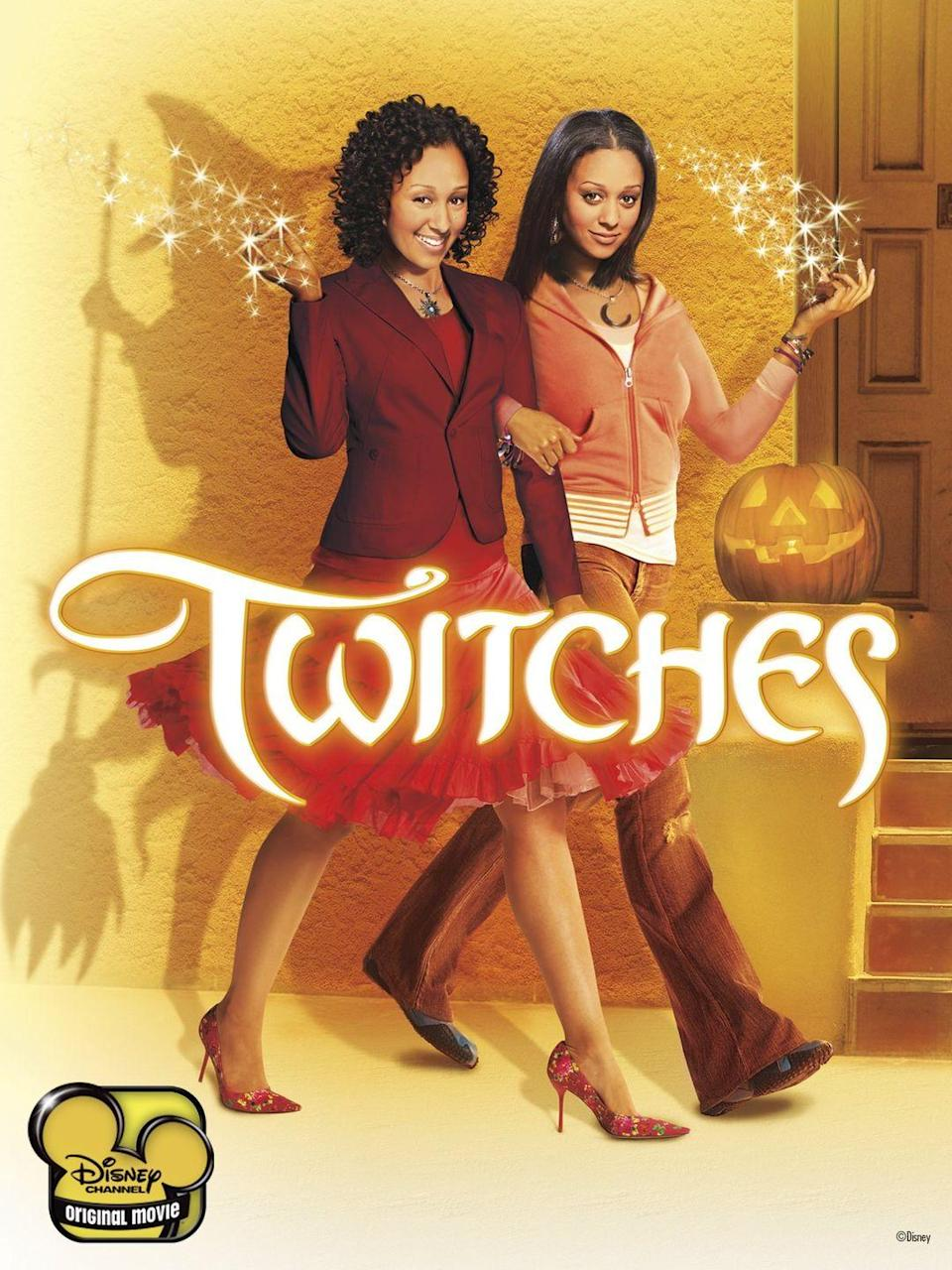 """<p><em>Twitches </em>is an all time Disney classic starring Tia and Tamara Mowry of <em>Sister, Sister </em>fame. Camryn and Alex were separated at birth when their home was taken over by the darkness. On their 21st birthday, the two find each other and learn of their magic powers. Together, they try to save their world before it's too late.</p><p><a class=""""link rapid-noclick-resp"""" href=""""https://go.redirectingat.com?id=74968X1596630&url=https%3A%2F%2Fwww.disneyplus.com%2Fmovies%2Ftwitches%2F3jmJ2lNPGpS7&sref=https%3A%2F%2Fwww.seventeen.com%2Fcelebrity%2Fmovies-tv%2Fg29354714%2Fnon-scary-halloween-movies%2F"""" rel=""""nofollow noopener"""" target=""""_blank"""" data-ylk=""""slk:Watch Now"""">Watch Now</a></p>"""