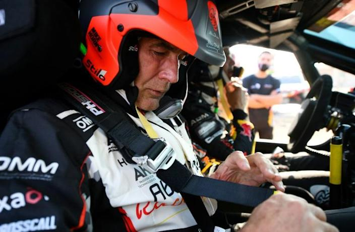 Buckling up for a long ride, Mike Horn is competing in his second Dakar Rally but his finish line is the 2023 race