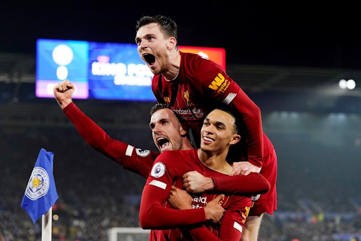 Liverpool's convincing 4-0 win at second-place Leicester City means the Reds are all but Premier League champions-elect. (REUTERS/Andrew Yates)