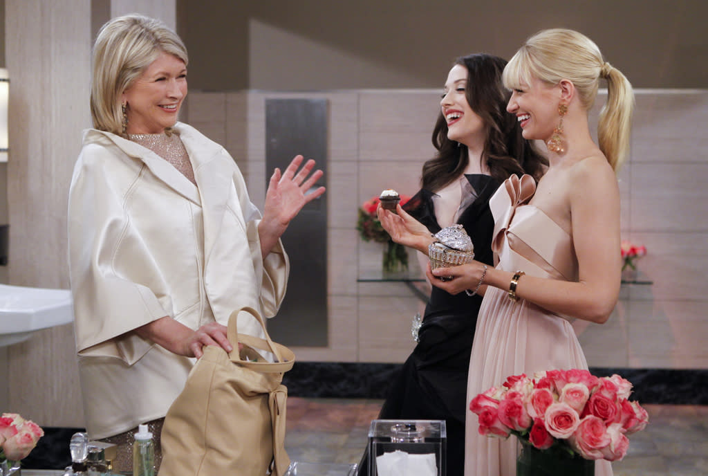 """<b>""""2 Broke Girls""""</b><br>Monday, 5/7 at 8:30 PM on CBS<br><br>In the hour-long season finale, the girls devise a plan to crash a fashion gala they know Martha Stewart (guest starring as herself) will be attending, in hopes that she'll taste their cupcakes. Will Max and Caroline finally get their big break, or will their mission to stalk Martha Stewart turn into a huge disaster?<br><br><a href=""""http://yhoo.it/IHaVpe%20"""">More on Upcoming Finales </a>"""