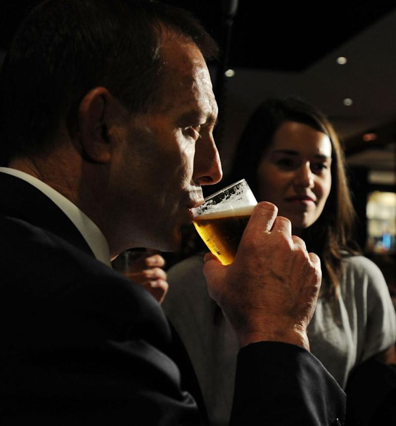 Former Prime Minister Tony Abbott spent a grand total of $7,340 on wine over eight weeks last year. Photo: AAP