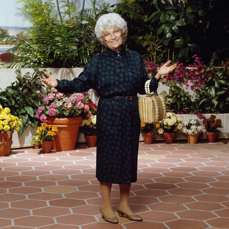 Estelle Getty played Sophia Petrillo on The Golden Girls. (Photo: Theo Westenberger/NBCU Photo Bank/NBCUniversal via Getty Images via Getty Images)