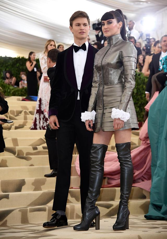 Ansel Elgort and Shailene Woodley at the 2018 Met Gala. (Photo: Shutterstock)