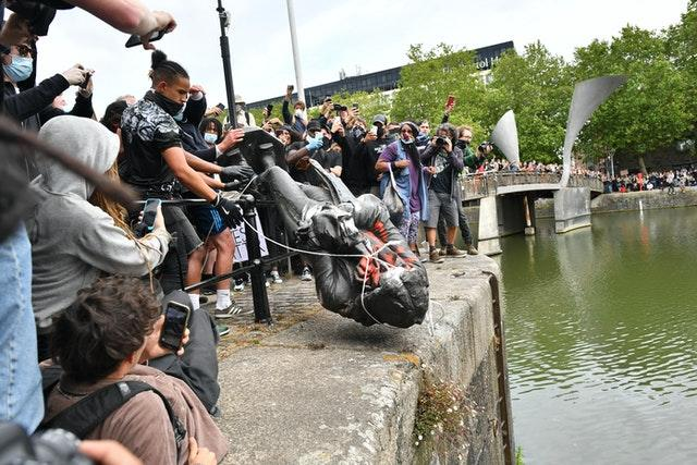 The statue was thrown into the harbour on June 7 (Ben Birchall/PA)