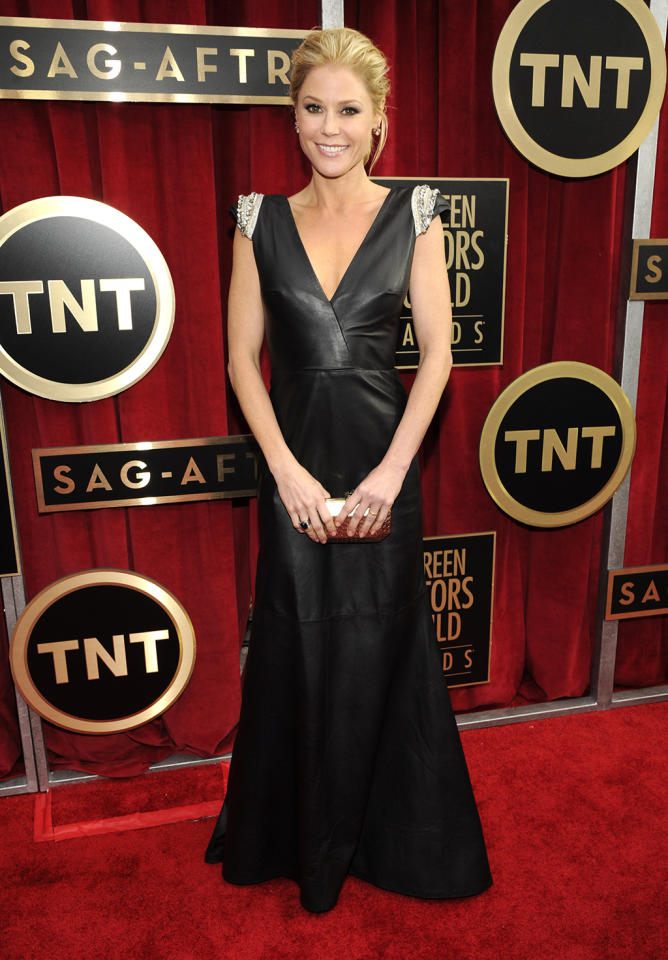 Julie Bowen arrives at the 19th Annual Screen Actors Guild Awards at the Shrine Auditorium in Los Angeles, CA on January 27, 2013.