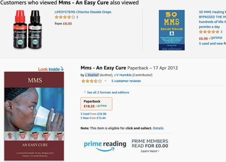 """Books on MMS and chlorine dioxide have been pulled from Amazon since NBC published an investigation into parents using these dangerous """"cures."""" (Image via Twitter)."""