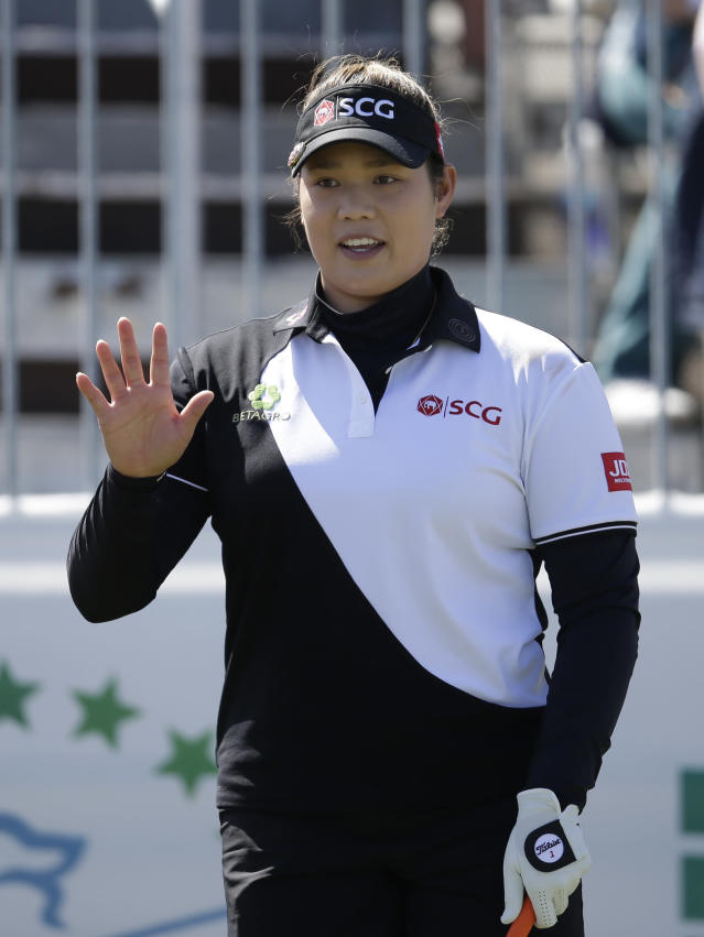 Ariya Jutanugarn during the final round of a The Founders Cup LPGA golf tournament on Sunday, March 18, 2018, in Phoenix. (AP Photo/Rick Scuteri)