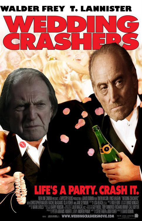 "Not only should Walder and Tywin have their own romcom, they should have their own weekly sitcom. It'd be like ""The Odd Couple"" if Oscar and Felix were both sociopaths."