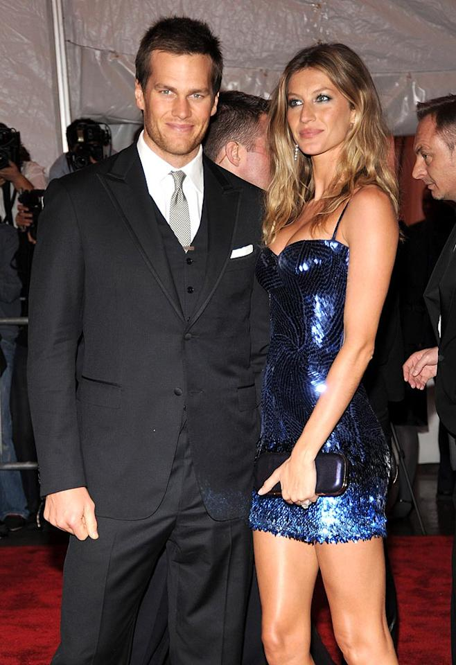 """Tom Brady and Gisele Bundchen became man and wife on February 26. The gorgeous couple just welcomed their first child together in December; Brady also has a 2-year-old son named John with ex-girlfriend Bridget Moynahan. Kevin Mazur/<a href=""""http://www.wireimage.com"""" target=""""new"""">WireImage.com</a> - May 4, 2009"""