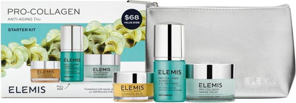 <p>This <span>Elemis Pro-Collagen Anti-Aging Trio</span> ($68) is a luxe gift set they'll love.</p>