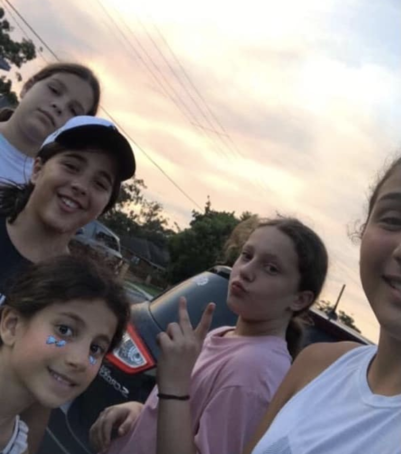 Five of the cousins pose for a photo moments before the crash. Source: Facebook