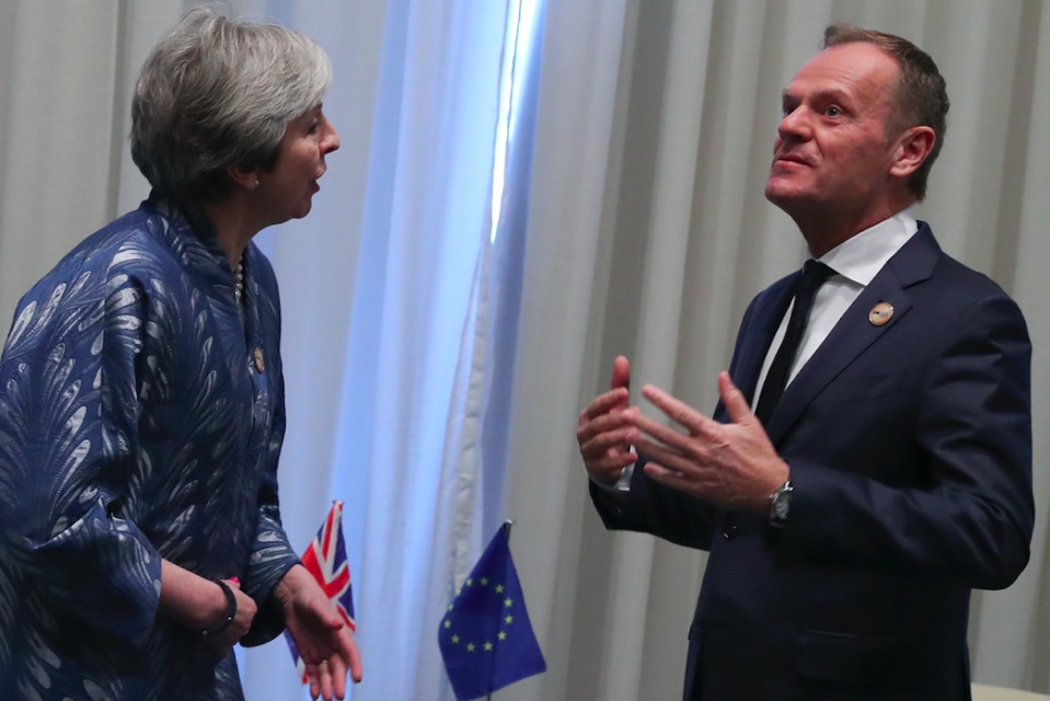 <em>Theresa May is set to ask the EU for a short delay to Brexit (Getty)</em>