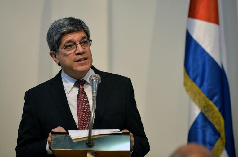 Cuba's top diplomat to Washington, Carlos Fernandez de Cossio, pictured in 2019, says US 'aggression' against the island nation would continue if Trump is re-elected