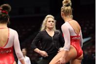 <p>After her Olympic debut, McCool attended the University of Georgia and competed for their team, winning three NCAA National Championships. Afterwards, McCool-Griffeth began a coaching career of her own at the University of Arkansas. </p>
