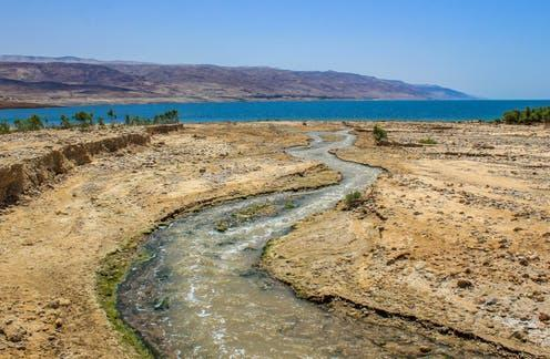 Image: These days, the river barely makes it to its mouth in the Dead Sea. Christopher Sprake / shutterstock