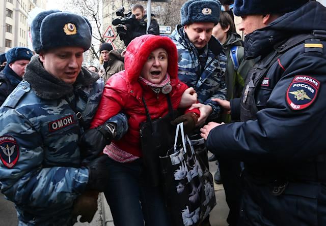 Russian riot police