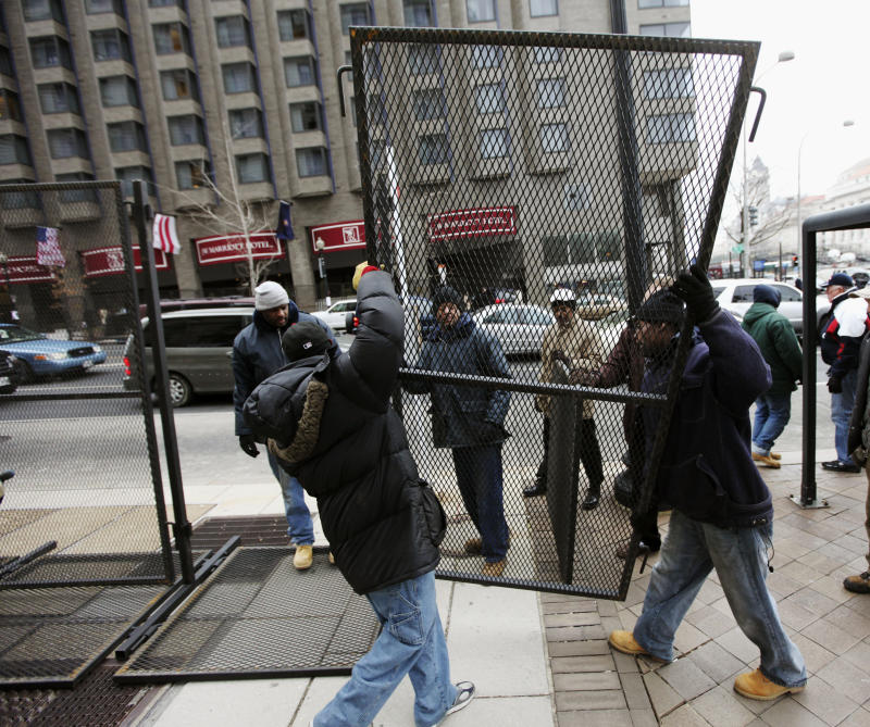 Tight security, protests expected at inauguration
