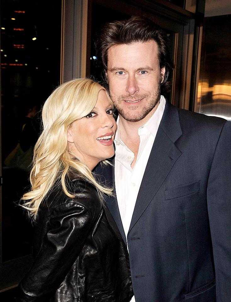 """Tori Spelling and Dean McDermott met and fell in love while filming the TV movie, """"Mind Over Murder,"""" in Canada. Unfortunately, they were both married to other people at the time, but that didn't stop Tori and Dean from following their hearts. The couple wed in May 2006. Kevin Winter/<a href=""""http://www.gettyimages.com/"""" target=""""new"""">GettyImages.com</a> - March 10, 2009"""