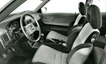 <p>A five-speed manual and four-wheel disc brakes were standard, as were a zero-to-60-mph time of 8.7 seconds and a top speed just shy of 120 mph. For maximum '80s-ness, the GTX also offered an optional digital dash with an amazing—and amazingly large—turbocharger speed gauge. <em>—Alexander Stoklosa</em></p>