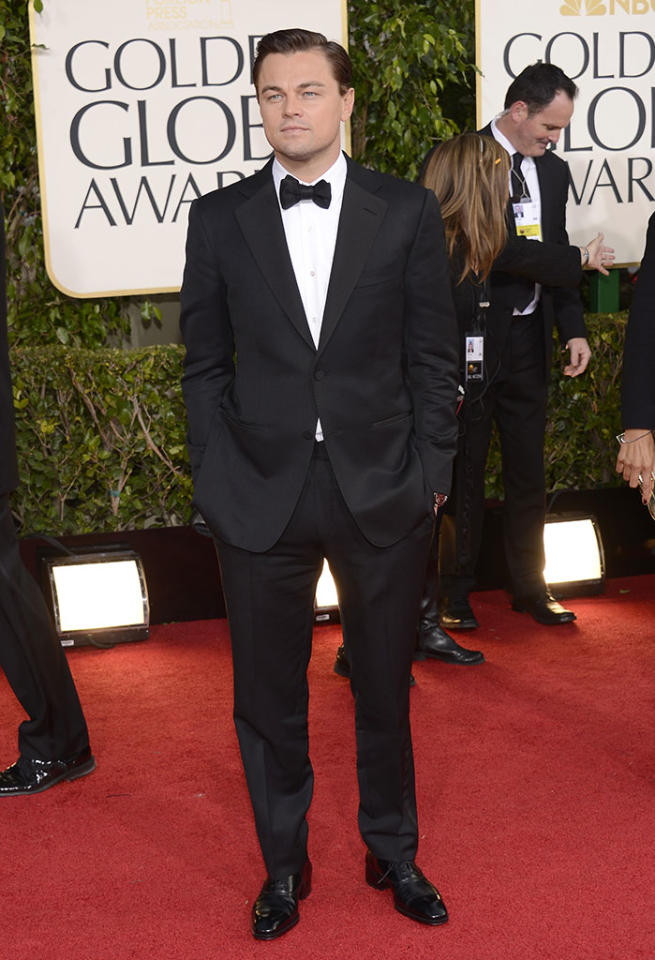 Leonardo DiCaprio arrives at the 70th Annual Golden Globe Awards at the Beverly Hilton in Beverly Hills, CA on January 13, 2013.