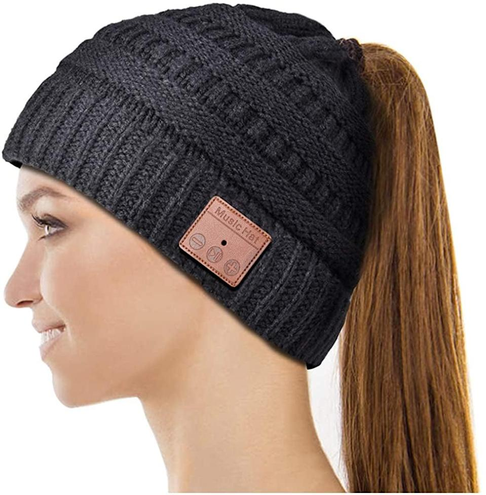 <p>The <span>Highever Bluetooth Hat</span> ($19) will be so useful in the wintertime!</p>