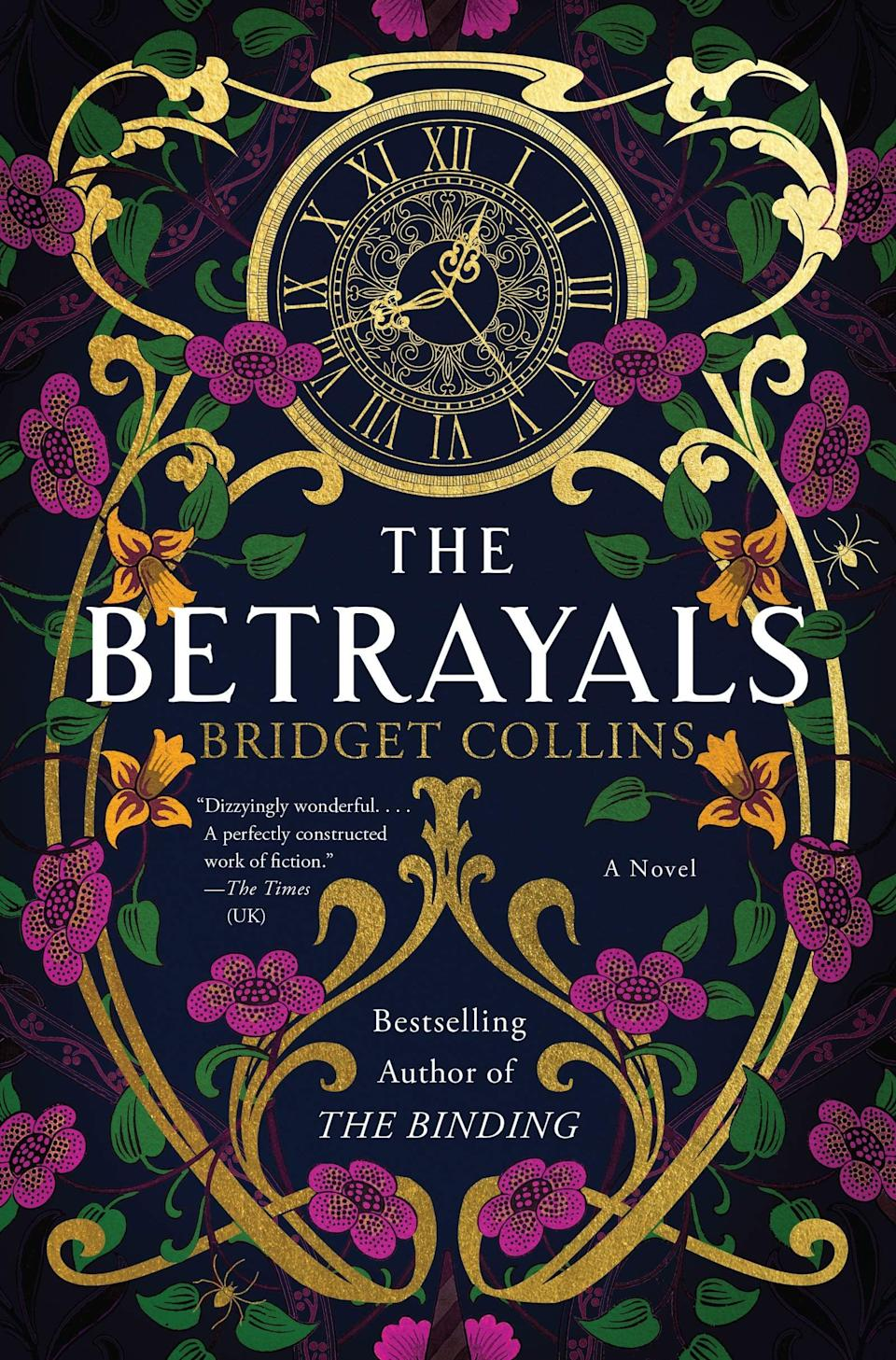 <p><span><strong>The Betrayals</strong></span> by Bridget Collins is a surreal epic set in the ancient academy of Montverre. Tucked away high in the mountaintops, only society's brightest minds are admitted to Montverre, and that includes Léo Martin, a disgraced politician who returns to keep tabs on the school's new leader, Claire Dryden, on the eve of the school's most prestigious event: the Midsummer Game. </p> <p><em>Out May 18</em></p>